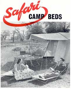 Hounsfield's Safari camp bed advert